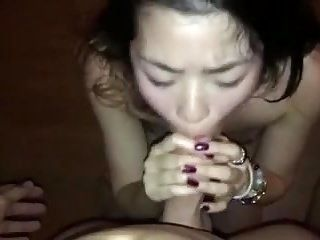 Submissive Asian gets the Facial treatment