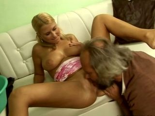 Tiny Blonde Teen Is Banged Hard By Old Fart In Dirty Old Young Fuck Scene