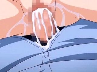 Busty Anime Babe With Glasses Licks (2)