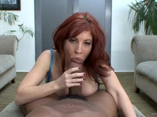 Busty porn hottie Brittany O'Connell treats cock a hot and nasty blowjob
