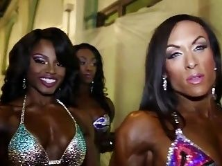 Muscle Women Contest Backstage
