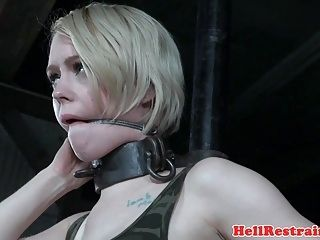 Restrained Sub Whipped In Master Dungeon (6)
