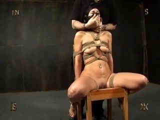 Leather Hood Smother and Tit torture