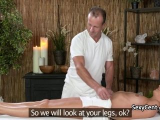 Blonde Fucked And Spunked On Massage Table (6)