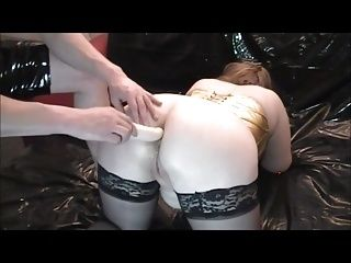 Anal Training Fucking Wifes Ass With Dildo