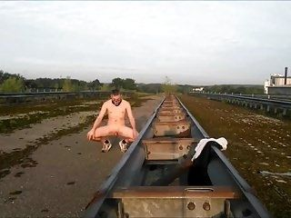 Completely Naked On A Bridge
