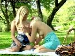 Blonde Teens Public Sex In The Park