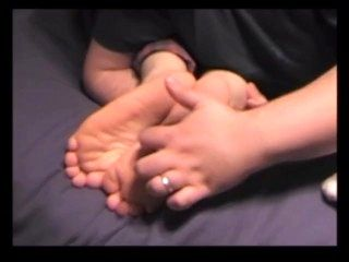 Mystery Girl's Cute Feet Tickled
