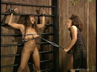 Blistering Damsel With Long Hair Having Her Big Tits Tortured In Brutal Femdom Act