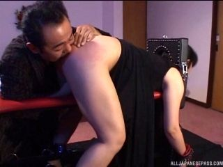 Submissive Asian MILF tied down and has her big ass covered in hot wax (2)