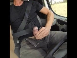 Dude In Car Edging With Piss And Precum