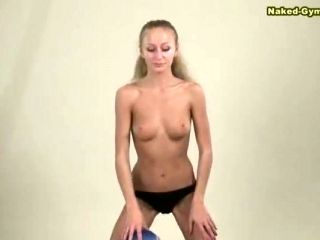 Petite beauty from Russia and her session with the blue ball
