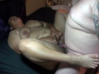Chubby White Guy With Small Dick Fucks Black Bbw Teen Cums All Over Her Ass
