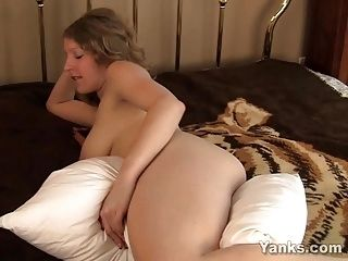 Blonde Emily Humping A Pillow (4)