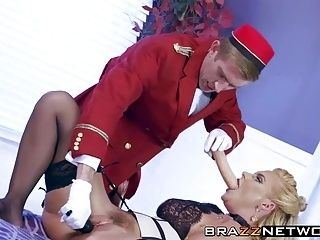 Big ass blonde MILF is starving for big dick until cum