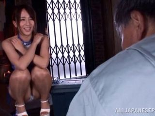 Fanciful Japanese porn star giving a hot closeup blowjob