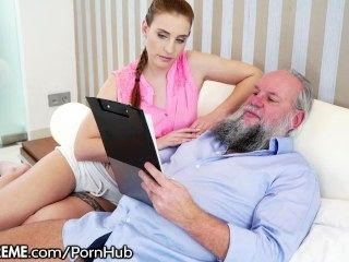 21Sextreme Hairy Grandpa Plays with Teens Body (3)