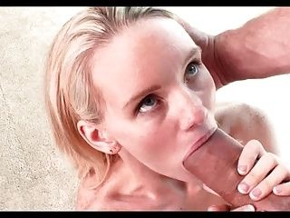 Powerful Mouth Cumshot For A Skinny HD Blonde