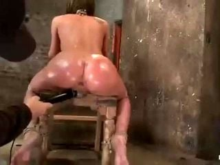 Forced Orgasm gapes her ass and makes her squirt