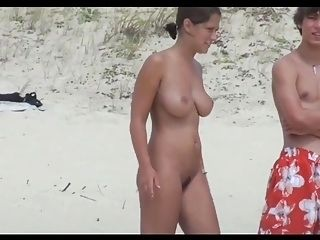 Hot Nudist Girl On The Beach