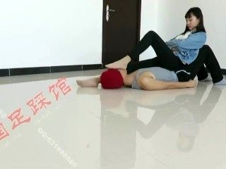 Chinese Cute Girl Nylon Foot Worship
