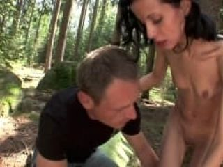 Outdoor Sex With A Brunette Who Loves Cock