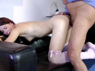 Young Doll Slamed By Old Male