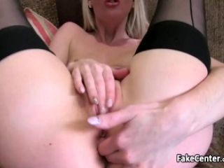 Blonde Poops Anal Cherry In Casting