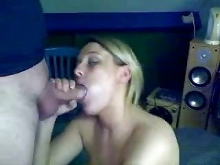 Blonde Girlfriend Blowjob with Cum in Mouth