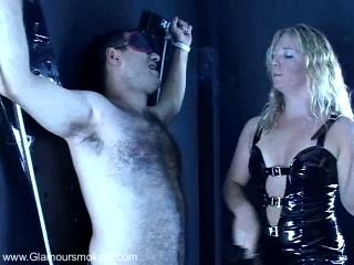 Hot Femdom Action Along Babe With Long Hair Torturing Dude In A Bondage