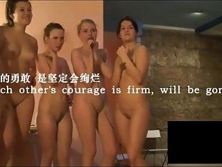 A group of naked girls sings The Future of Each Other