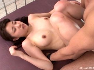 Dominate Asian girl ties her man to the bed and teases him (2)