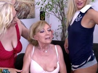 3 Old And Young Lesbians Playing With Eachother (8)