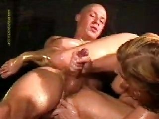 Oily Handjob With Ass Fingering