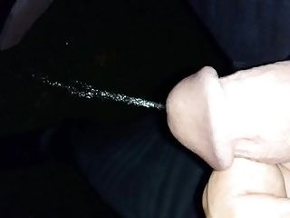 Night Outdoor Solo Pissing After Mastrubation