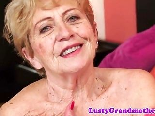 Chubby Granny Screwed After Rubbing Her Tits (3)