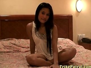Asian Teen In Bed.