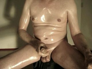 Robin Jerking His Shaved Oiled Uncut Monstercock 172 (3)