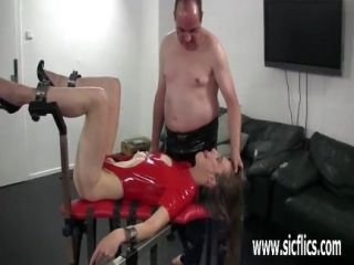 Brutally Fisting Her Wrecked Teen Twat In Bondage