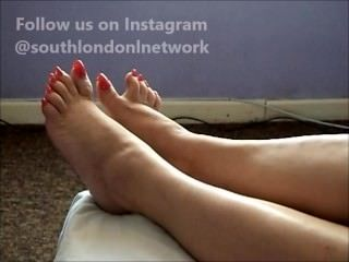Long Toe nails solejob/footjob from Lady Lev
