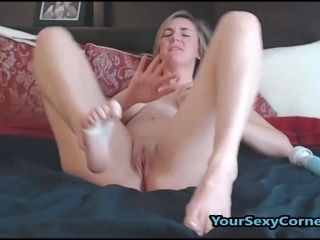 Blonde MILF Enjoys Toying Her Shaved Pussy Very Much (5)