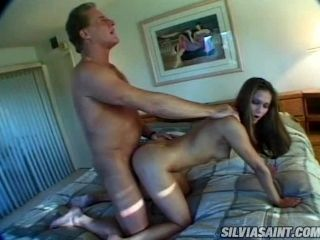 Slender blondie Eva Roberts gets fucked by a mature dude Randy