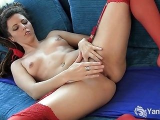 Small Boobed Jazmin Toys Her Snatch