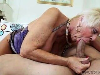 Lolita - Big Breasted Blond With Red Nails Sucks Massive Cock Of Young Stud