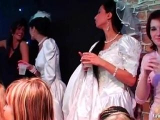 Hottie Brides Taking Fat Cocks At A Wild Party