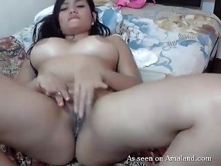 Hispanic Babe With Large Breasts Playing With Herself.mp4