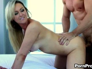 Great Sex Leaves Abbey Brooks' Tits Covered By Cum