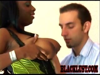Chesty ebony Ms. Panther gets her black pussy fucked by a white guy (2)