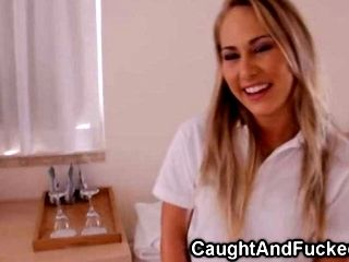 Fucking A Hot Blond Teen In A Hotel Room