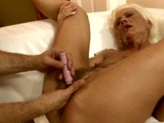 Greased up pussy of lustful granny ORHIDEA is pleased with sex toys
